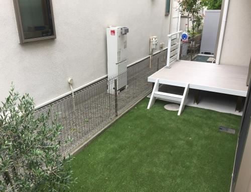 ラステラ人工木デッキのあるお庭へリフォーム@世田谷区