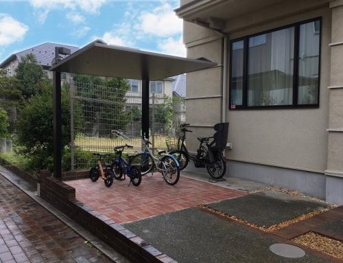 カーポートSCミニで駐輪スペースをすっきりおしゃれに@世田谷区
